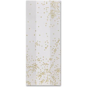 Gold Sprinkles Cello Bags, 5 x 3 x 11 1/2