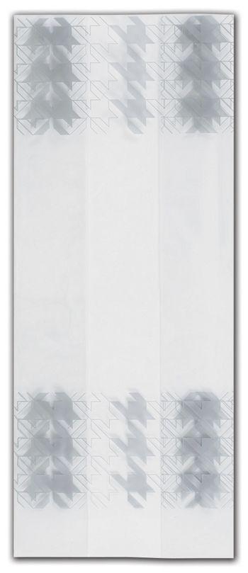 Silver Houndstooth Cello Bags, 5 x 3 x 11 1/2
