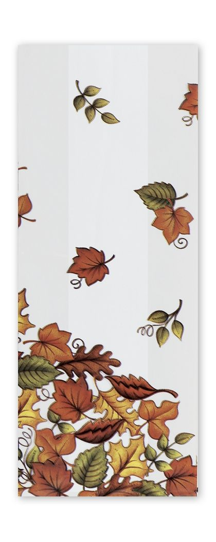 Leaf Pile Cello Bags, 5 x 3 x 11 1/2""
