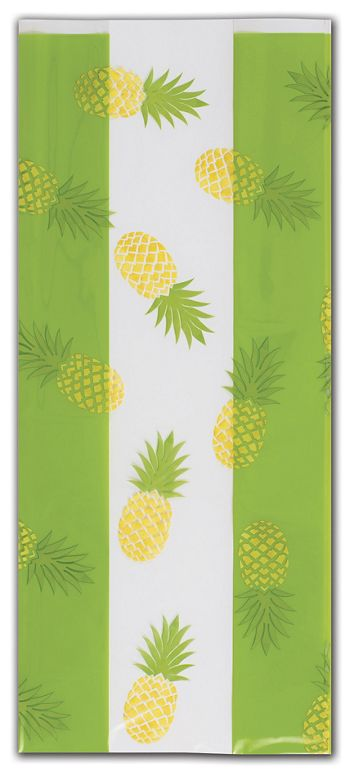 Party Like a Pineapple Cello Bags, 5 x 3 x 11 1/2