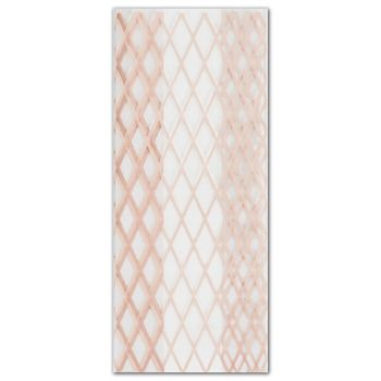 Rose Gold Lattice Cello Bags, 5 x 3 x 11 1/2