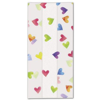 Rainbow Hearts Cello Bags, 5 x 3 x 11 1/2