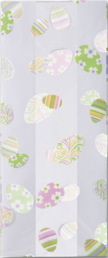 Swirled Eggs Cello Bags, 5 x 3 x 11 1/2