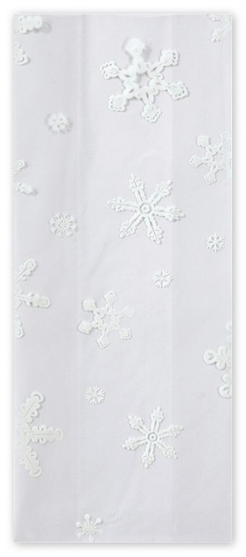 Snowflakes Cello Bags, 5 x 3 x 11 1/2