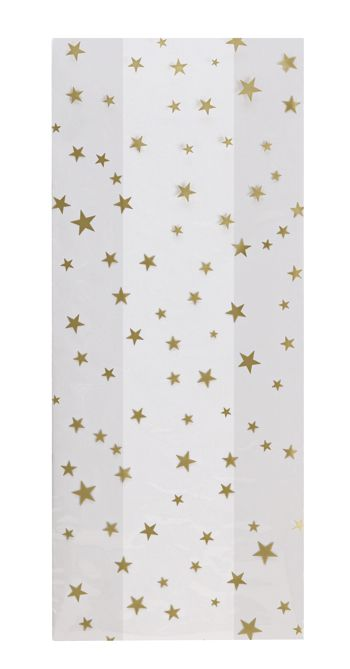 Gold Stars Cello Bags, 5 x 3 x 11 1/2