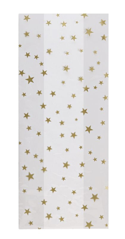 Gold Stars Cello Bags, 5 x 3 x 11 1/2""