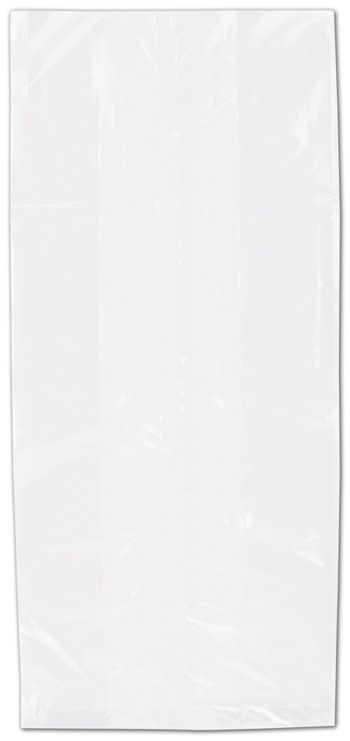 Clear Polypropylene Bags Gusseted, 5 1/2 x 12