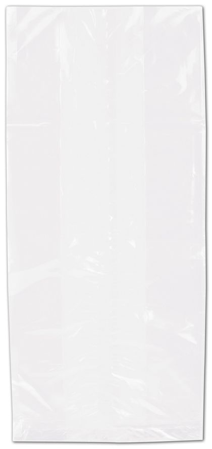 "Clear Polypropylene Bags Gusseted, 5 1/2 x 12"" + 3 1/4"" SG"