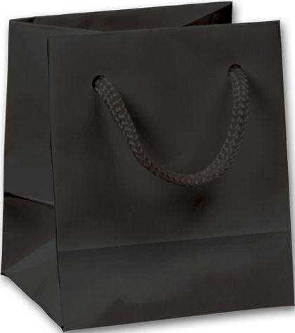 "Premium Black Gloss Euro-Shoppers, 3 x 2 1/2 x 3 1/2"""