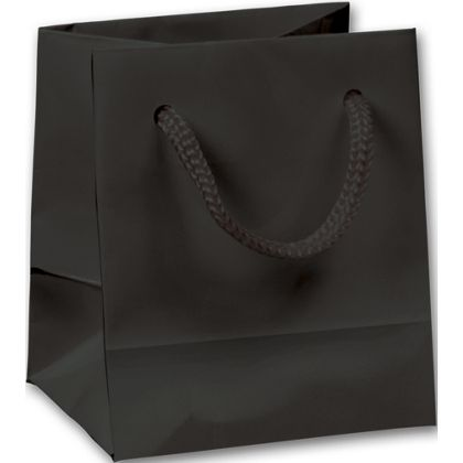 Premium Black Gloss Euro-Shoppers, 3 x 2 1/2 x 3 1/2""