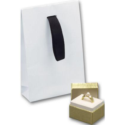 """White Gloss Laminated Gift Euros, 4 x 1 1/2 x 6"""""""