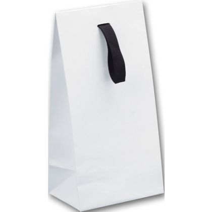 White Gloss Laminated Gift Euros, 4 3/4x3 3/4x9 1/2