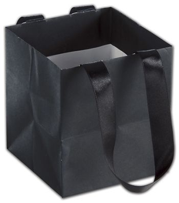Black Mini Eco Square Euro-Shoppers, 4 1/2 x 4 1/2 x 5