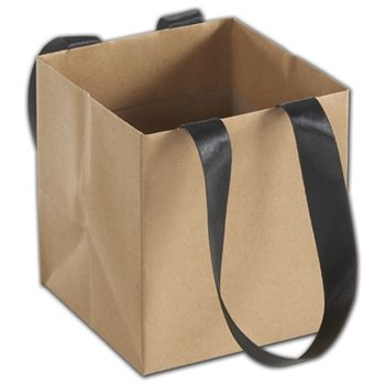 Kraft Mini Eco Square Euro-Shoppers, 4 1/2 x 4 1/2 x 5