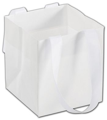 White Mini Eco Square Euro-Shoppers, 4 1/2 x 4 1/2 x 5