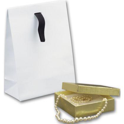 """White Gloss Laminated Gift Euros, 5 3/4x2 3/4x7 3/4"""""""