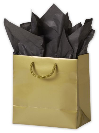 "Premium Gold Gloss Euro-Shoppers, 6 1/2 x 3 1/2 x 6 1/2"""