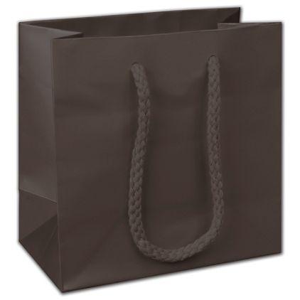 "Dark Chocolate Matte Euro-Totes, 6 1/2 x 3 1/2 x 6 1/2"""