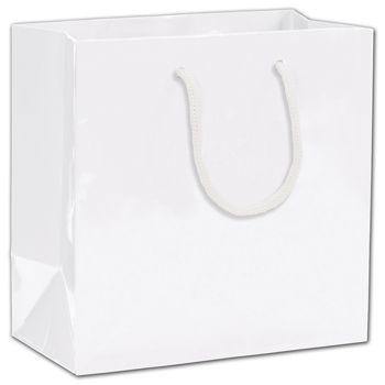 """White Gloss Euro-Totes, 6 1/2 x 3 1/2 x 6 1/2"""""""
