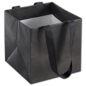 Black Mini Eco Square Euro-Shoppers, 6 x 6 x 6