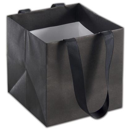 "Black Mini Eco Square Euro-Shoppers, 6 x 6 x 6"""