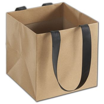 Kraft Mini Eco Square Euro-Shoppers, 6 x 6 x 6
