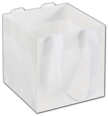 White Mini Eco Square Euro-Shoppers, 6 x 6 x 6