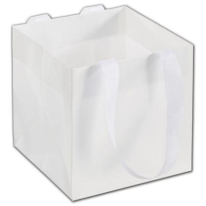 """White Mini Eco Square Euro-Shoppers, 6 x 6 x 6"""""""