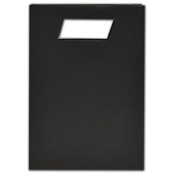 """Black Beater-Dyed Die-Cut Euro-Totes, 7 x 3 x 10"""""""
