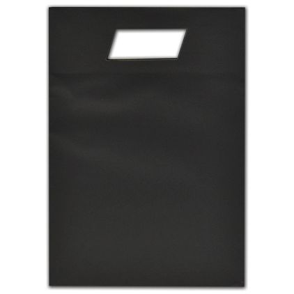 """Black Beater-Dyed Die-Cut Euro-Totes, 8 1/2 x 3 1/2 x 12"""""""