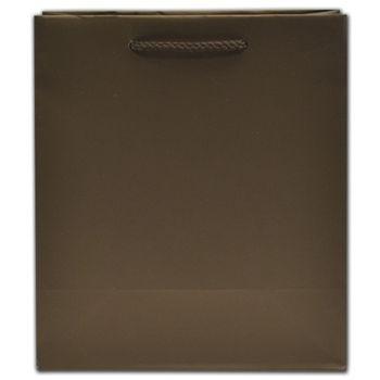 "Dark Chocolate Matte Euro-Totes, 8 x 4 x 9"""