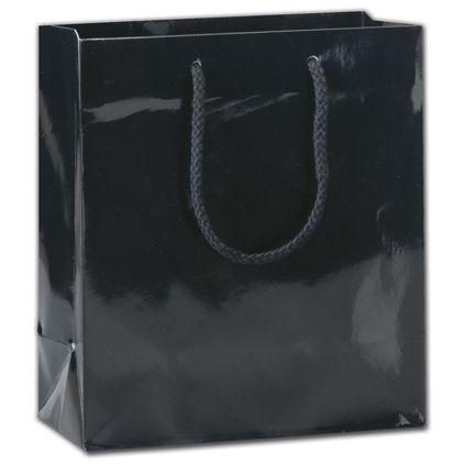"Black Gloss Euro-Totes, 8 x 4 x 9"""