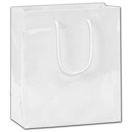 """White Gloss Euro-Totes, 8 x 4 x 9"""""""