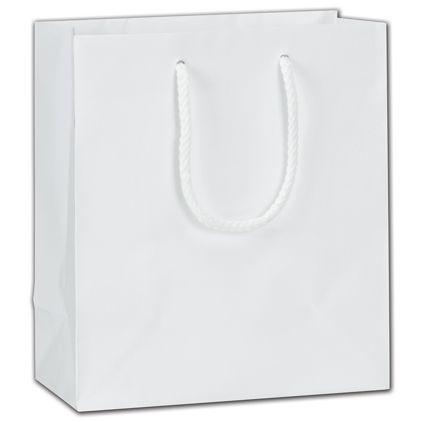 """White Matte Euro-Totes, 8 x 4 x 9"""""""