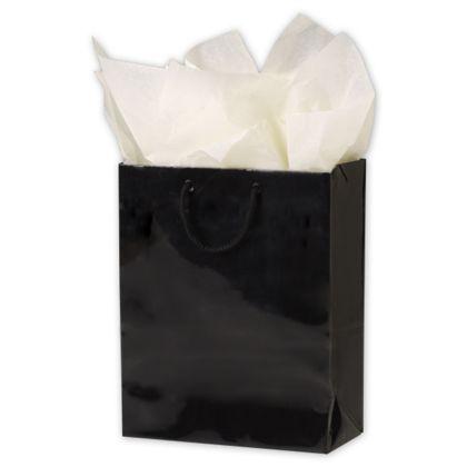 "Premium Black Gloss Euro-Shoppers, 8 x 4 x 10"""