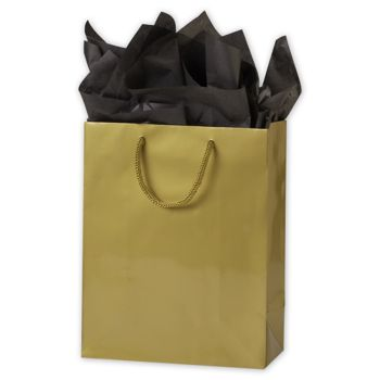 Premium Gold Gloss Euro-Shoppers, 8 x 4 x 10