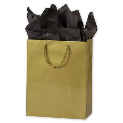 "Premium Gold Gloss Euro-Shoppers, 8 x 4 x 10"""