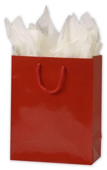 Premium Red Gloss Euro-Shoppers, 8 x 4 x 10