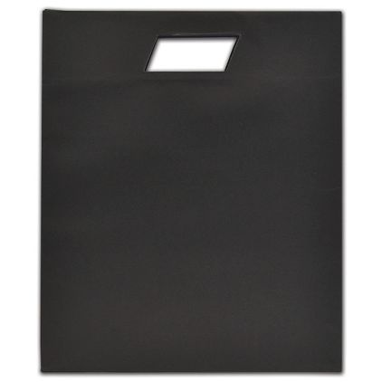 """Black Beater-Dyed Die-Cut Euro-Totes, 12 1/2 x 5 x 15"""""""