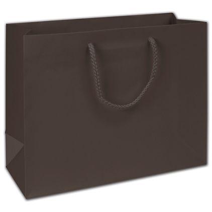 "Dark Chocolate Matte Euro-Totes, 13 x 4 1/2 x 10"""