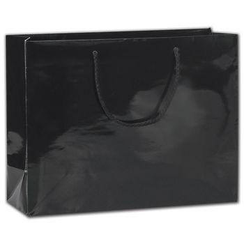 "Black Gloss Euro-Totes, 13 x 4 1/2 x 10"""