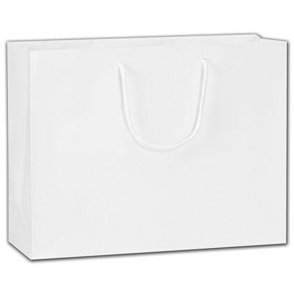"""White Matte Euro-Totes, 13 x 4 1/2 x 10"""""""