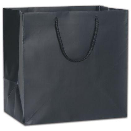 """Black Matte Euro-Totes, 13 x 8 1/2 x 13"""""""