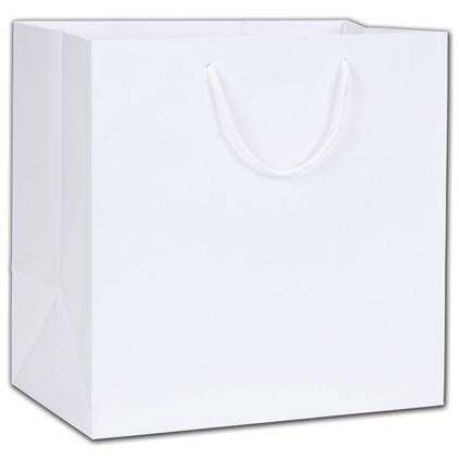 """White Matte Euro-Totes, 13 x 8 1/2 x 13"""""""