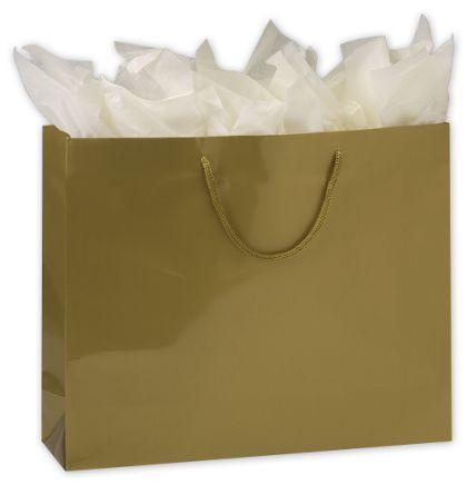 "Premium Gold Gloss Euro-Shoppers, 16 x 4 3/4 x 13"""