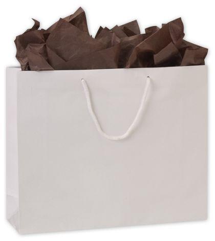 "Premium White Gloss Euro-Shoppers, 16 x 4 3/4 x 13"""