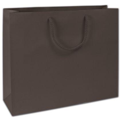 "Dark Chocolate Matte Euro-Totes, 16 x 4 3/4 x 13"""