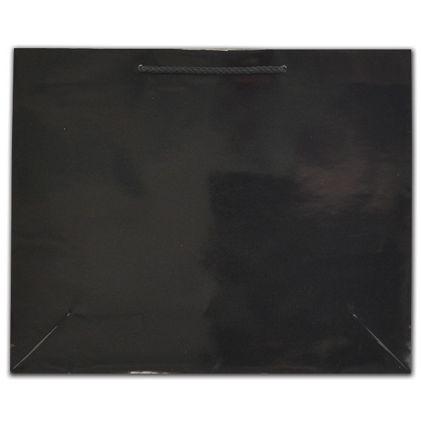 "Black Gloss Euro-Totes, 16 x 4 3/4 x 13"""