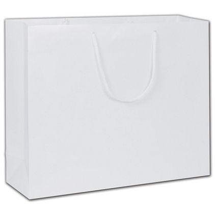 """White Gloss Euro-Totes, 16 x 4 3/4 x 13"""""""
