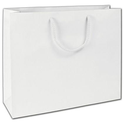 """White Matte Euro-Totes, 16 x 4 3/4 x 13"""""""